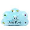Little Ummah - Quran Cube Pillow Blue Arial Font