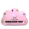 Little Ummah - Quran Cube Pillow Pink Bubblegum Font
