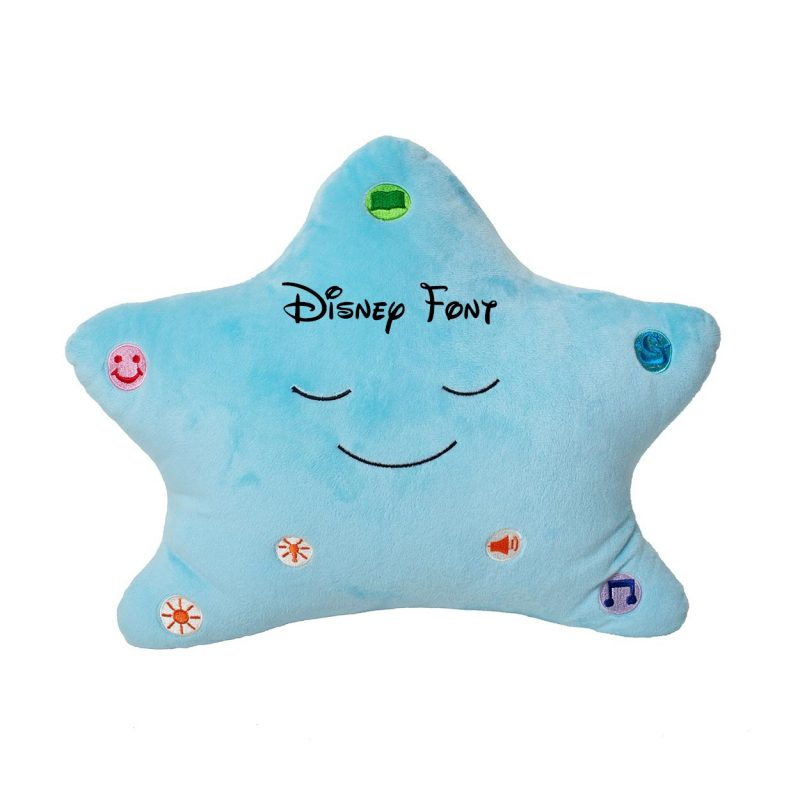Little Ummah - Personalised Blue Star_Disney Islamic Pillow - Desi Doll