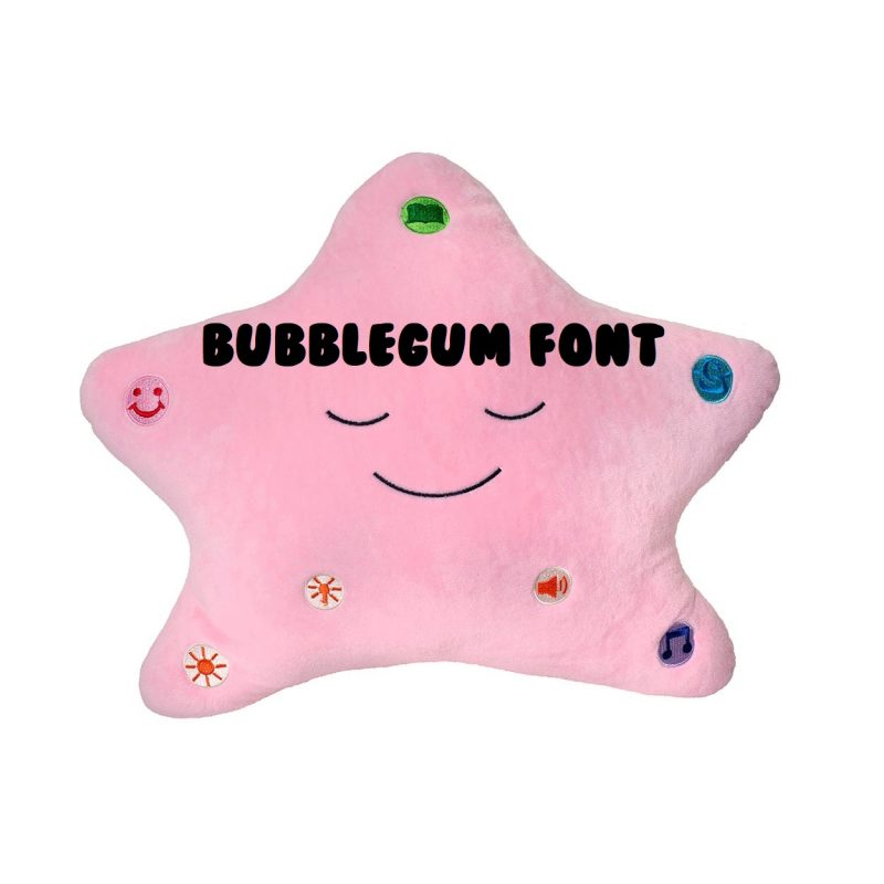 Little Ummah - Personalised Pink Star_Bubblegum Islamic Toy - Desi Doll