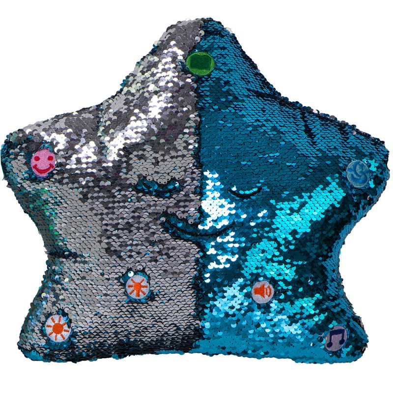 Little Ummah - Dua Star Pillow - Blue / Silver