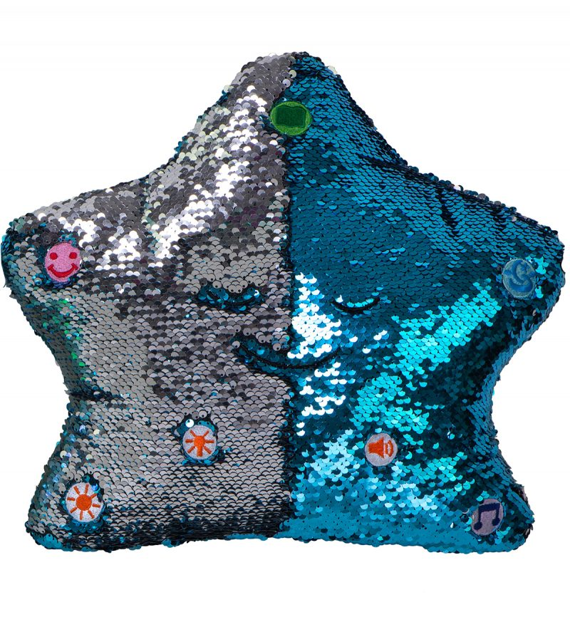 Little Ummah - Dua Star Pillow - Blue / Silver