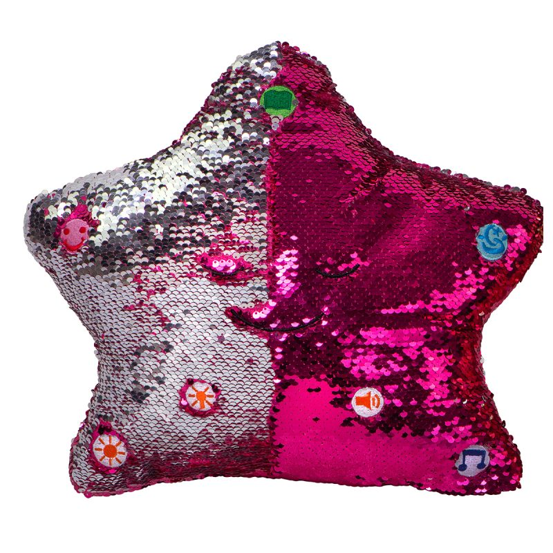 Little Ummah - Dua Star Pillow - Pink / Silver